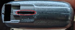 トヨタスマートキー電池交換時鍵差し込み場所