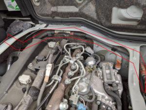 ハイエースディーゼル車バッテリー2個搭載ケーブルなし